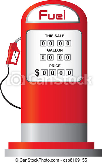 fuel pump vector red fuel pump isolated over white background vector rh canstockphoto com gas station black and white clipart free clipart gas station