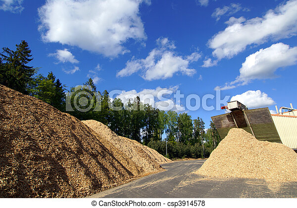 fuel storage at bio fuel power plant   - csp3914578