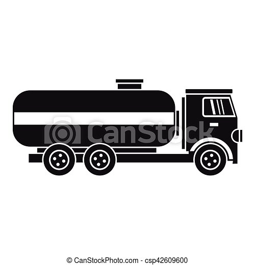 fuel tanker truck icon, simple style. fuel tanker truck vector