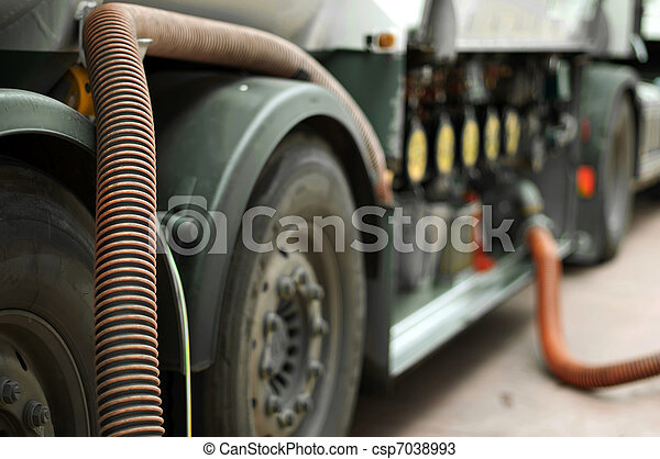 Fuel truck close up - csp7038993