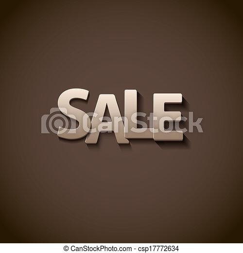 Venta de limpieza retro tipo font, Illustratiom EPS10 - csp17772634