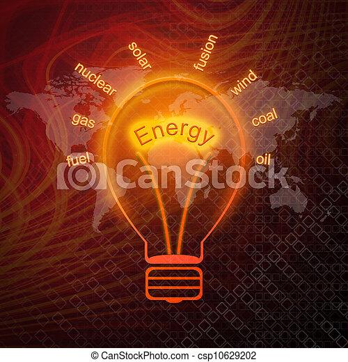 Fuentes de energía en las bombillas - csp10629202