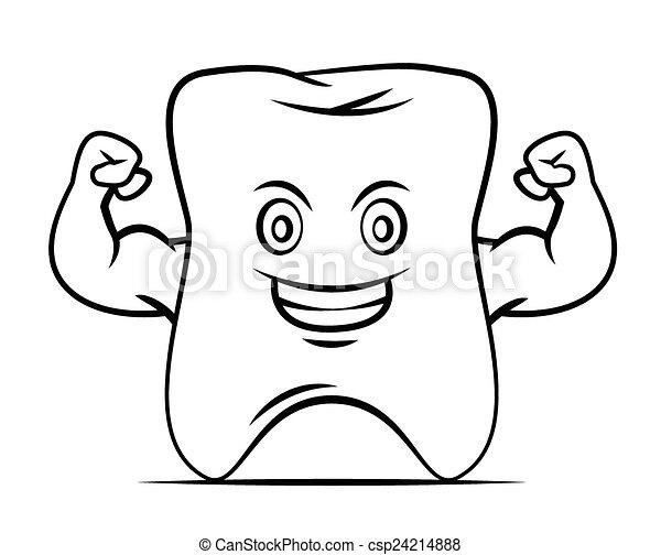 Mascota de dientes fuertes - csp24214888
