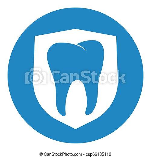 Dientes blancos limpios y fuertes con escudos limpios y dientes blancos fuertes con escudo - csp66135112