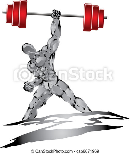 Fuerte músculo - csp6671969
