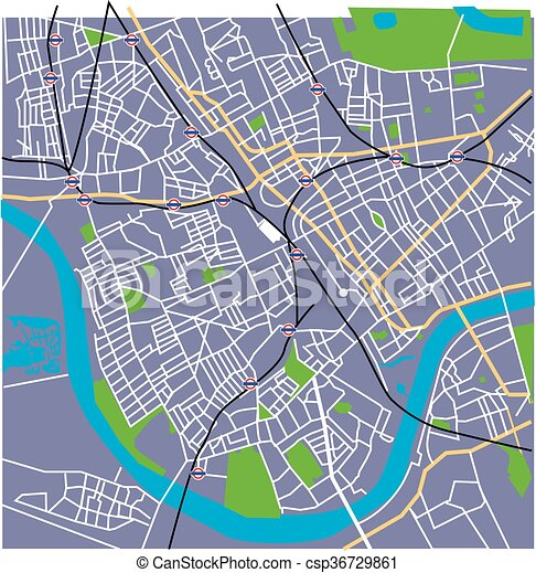 Fulham Heather Vector Streetmap Vector Fulham London Map With Spoof