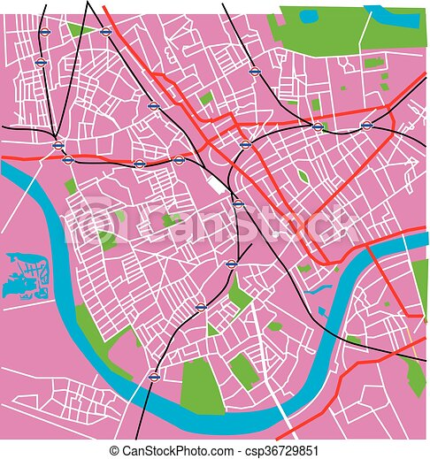 Fulham Map Pale Rose Vector Fulham London Map With Spoof London