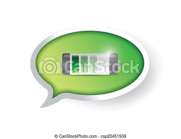full battery message illustration - csp20451509