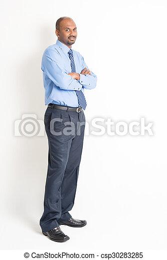 13aaaea33 Full body confident mature indian man executive. Portrait of ...
