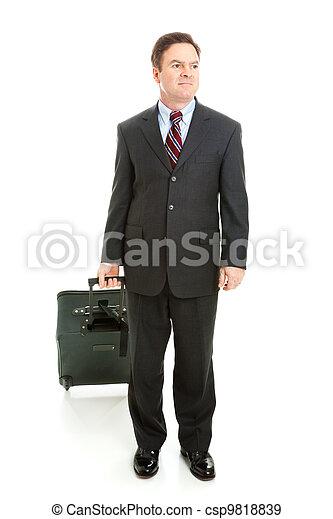 Full Body View of Business Traveler - csp9818839