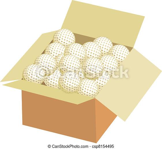 Full box of golf ball - csp8154495