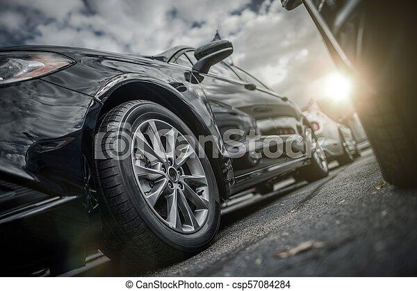 modern car parking