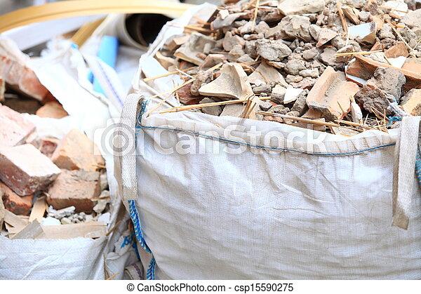 Full construction waste debris bags - csp15590275