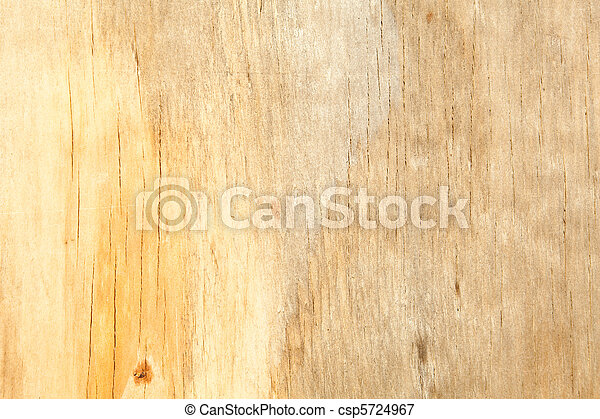 Full Frame Close Up Water Stained Yellow Wood Grain - csp5724967