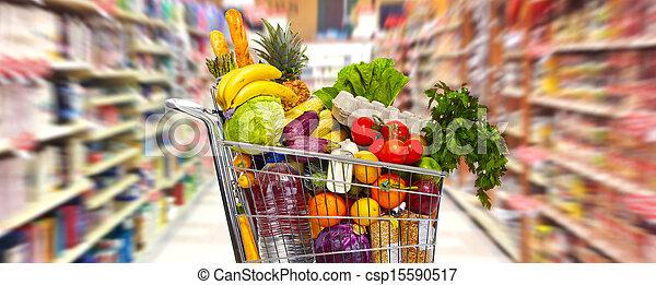 Full grocery cart. - csp15590517