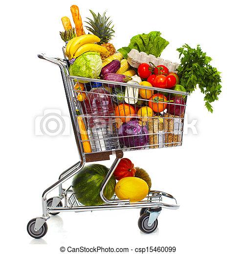 Full grocery cart. - csp15460099