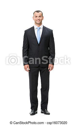 Full length of business man - csp16073020
