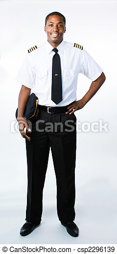 Full length photo of a pilot - csp2296139