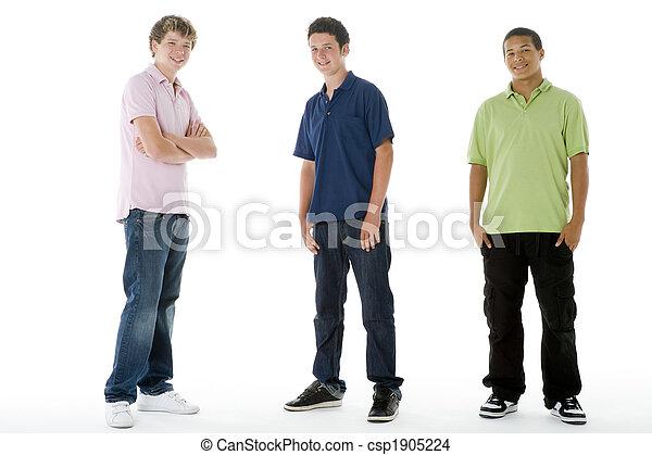 Full Length Portrait Of Teenage Boys - csp1905224