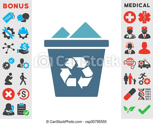 Full Recycle Bin Icon Full Recycle Bin Vector Icon Style Is