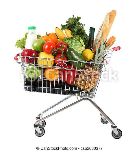 Full shopping trolley - csp2830377