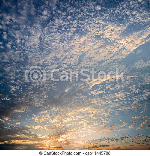 Full view of sunset - csp11445708
