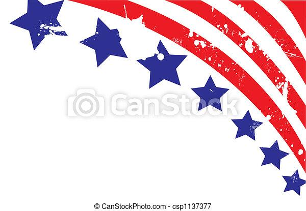 fullständigt, illustration, bakgrund, amerikan, vektor, editable, flagga - csp1137377
