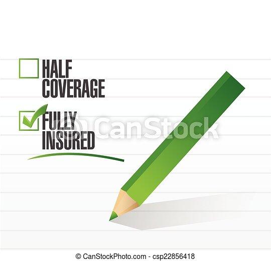 fully insured check mark illustration - csp22856418