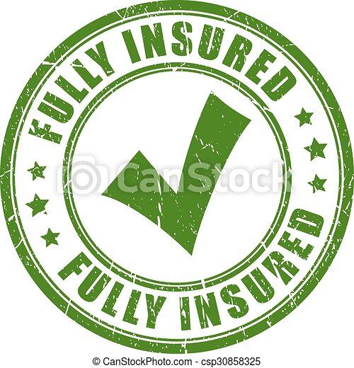 Fully insured rubber stamp - csp30858325