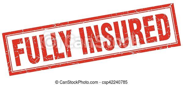 fully insured square stamp - csp42240785