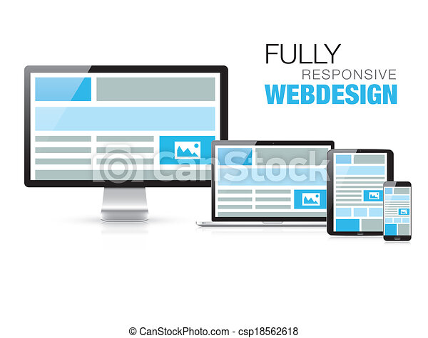 Fully responsive web design in mode - csp18562618