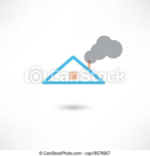 fumaça, chaminé - csp18578957