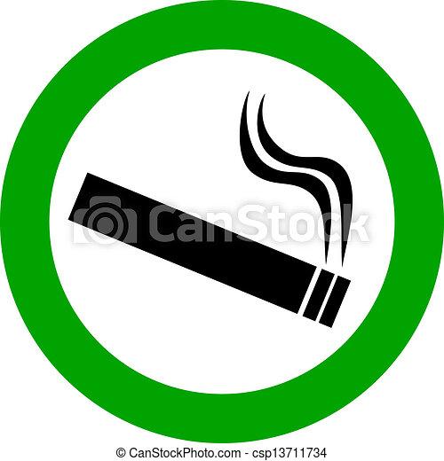 Área de fumar - csp13711734