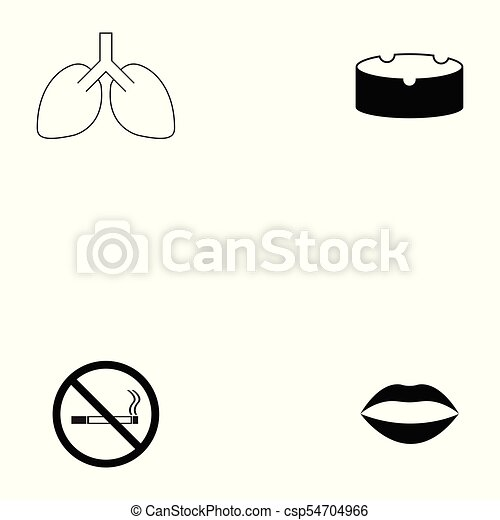 Un juego de iconos fumadores - csp54704966