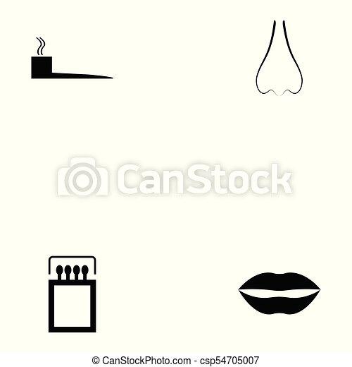 Un juego de iconos fumadores - csp54705007