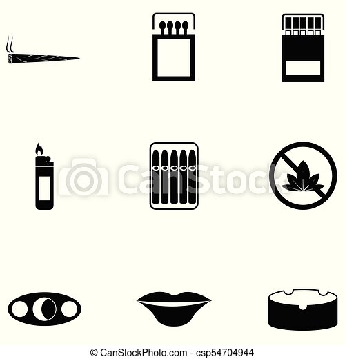 Un juego de iconos fumadores - csp54704944