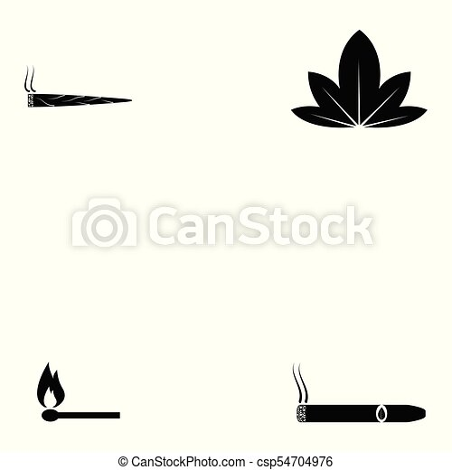 Un juego de iconos fumadores - csp54704976