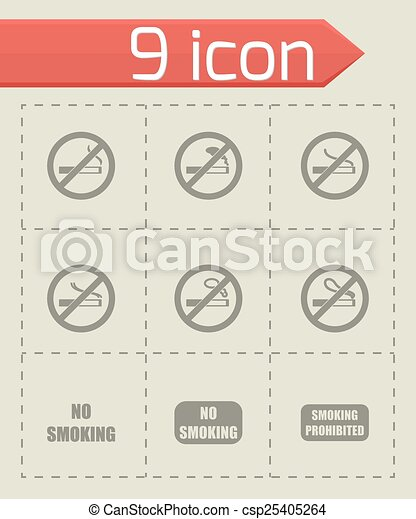 Vector no fumar icono - csp25405264