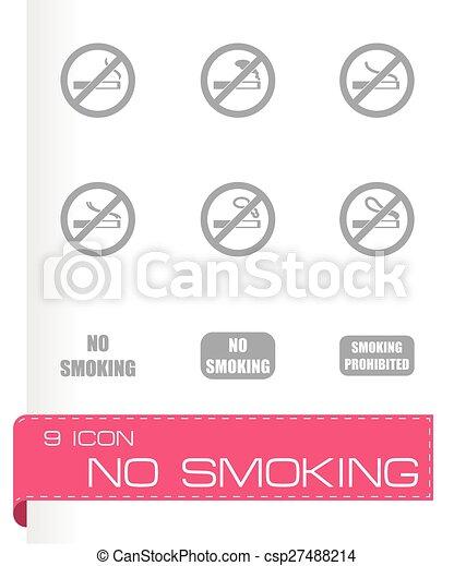 Vector no fumar icono - csp27488214