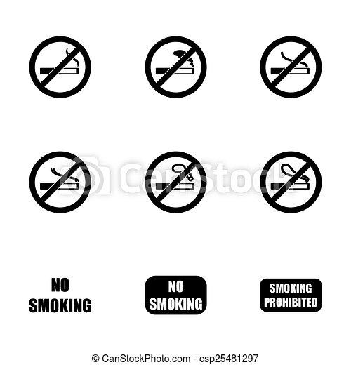 Vector no fumar icono - csp25481297