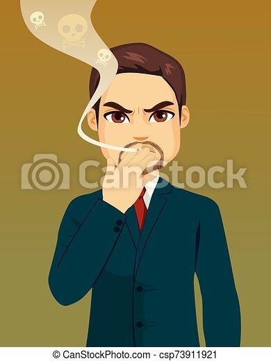 fumar, venenoso, concepto, hombre de negocios - csp73911921