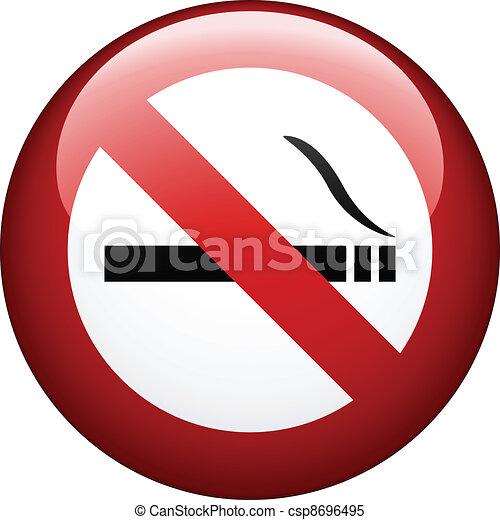 fumar, vetorial, não, marca - csp8696495