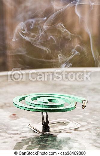fumigator, felett, zöld, pohár asztal - csp38469800