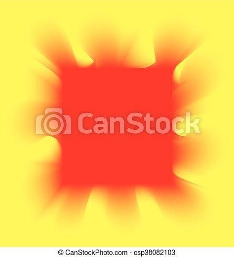 Fumo Quadrato Sfondo Giallo Rosso