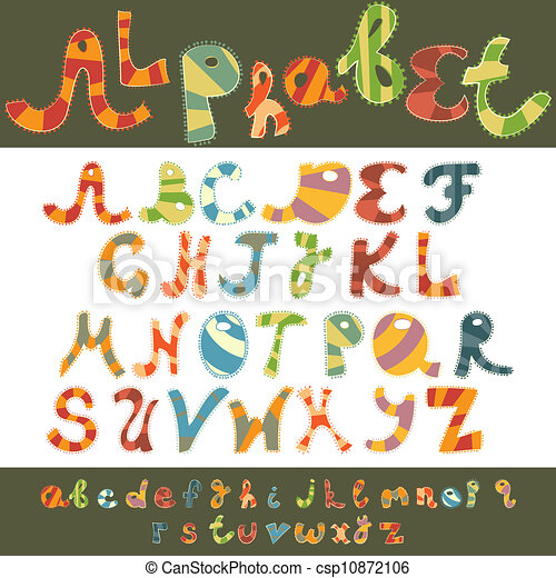 Fun alphabet capital and lower case - csp10872106