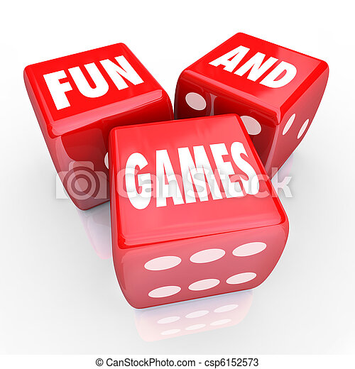 Fun and Games - Words on Three Red Dice - csp6152573