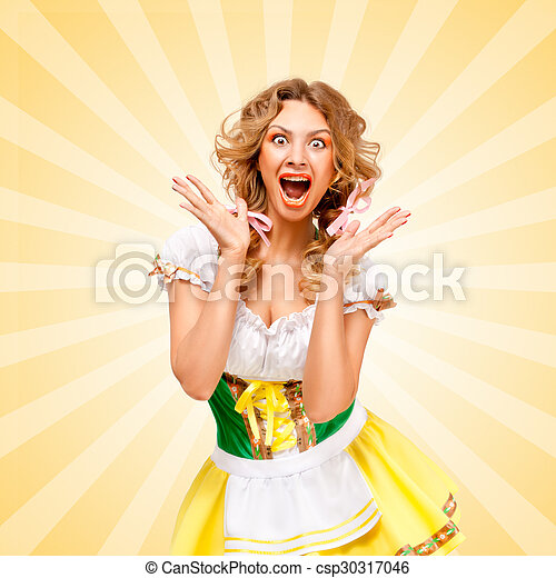Oktoberfest dirndl interracial images