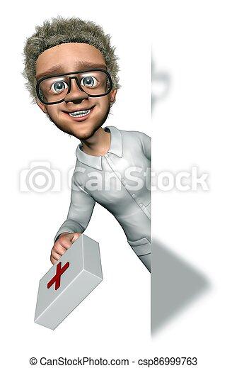 Fun Doctor Man - Promo Show - Cartoon 3D Charater - csp86999763