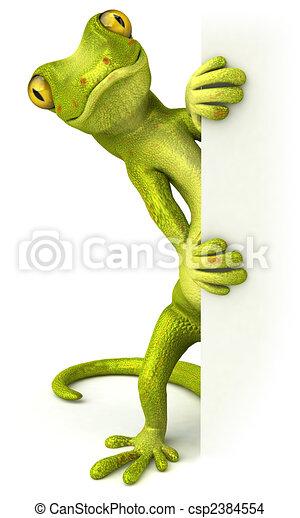 Fun gecko - csp2384554
