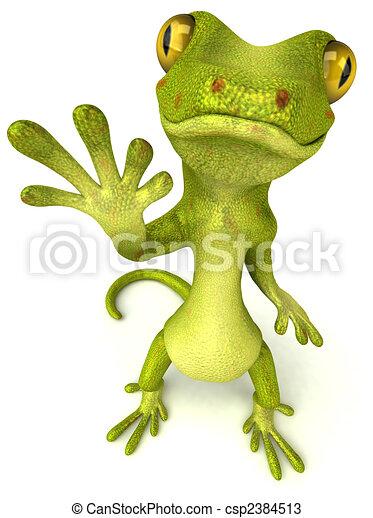 Fun gecko - csp2384513